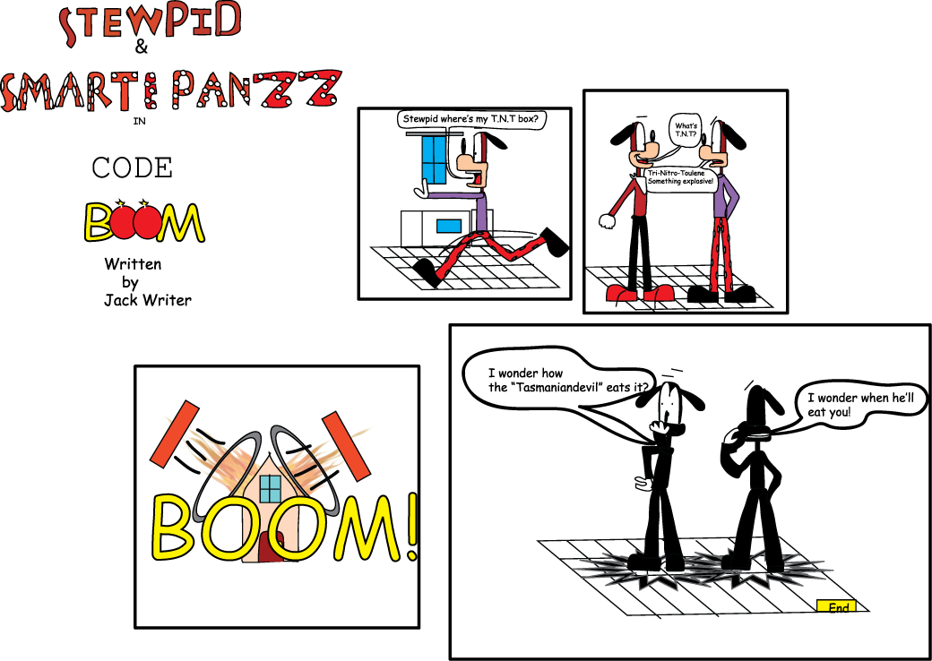 Stewpid and Smarty Panzz in code boom